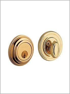 gold door lock