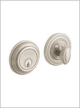 silver door lock