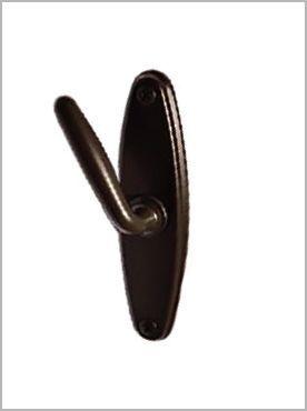 Black long door knob